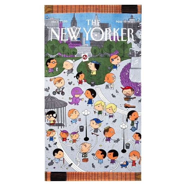 Union Square New Yorker Beach Towel