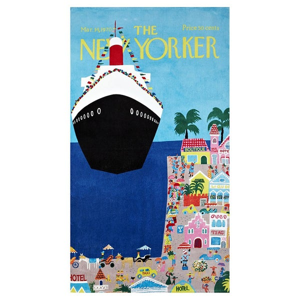Cruise Ship New Yorker Beach Towel