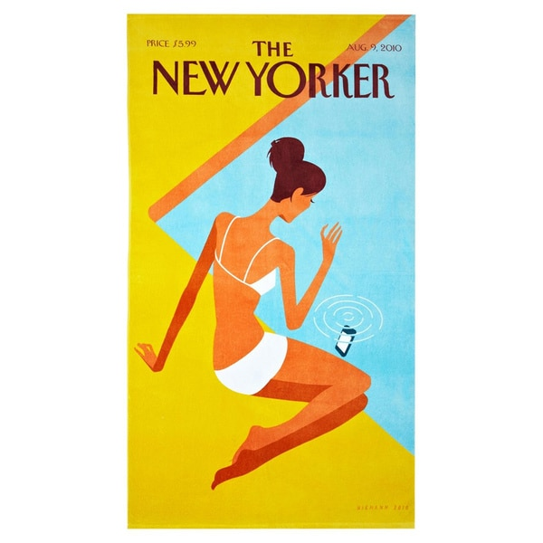 Dropped Call New Yorker Beach Towel
