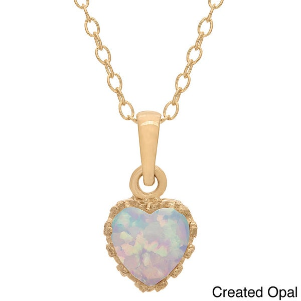Gioelli Tiara Collection Goldplated Silver 6mm Heart Gemstone Crown Necklace