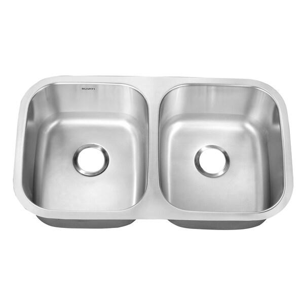 Ruvati 33-inch Undermount Double Bowl Kitchen Sink