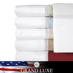 Grand Luxe Egyptian Cotton Duetta 500 Thread Count Deep Pocket Sheet Separates and Pillowcase Separates