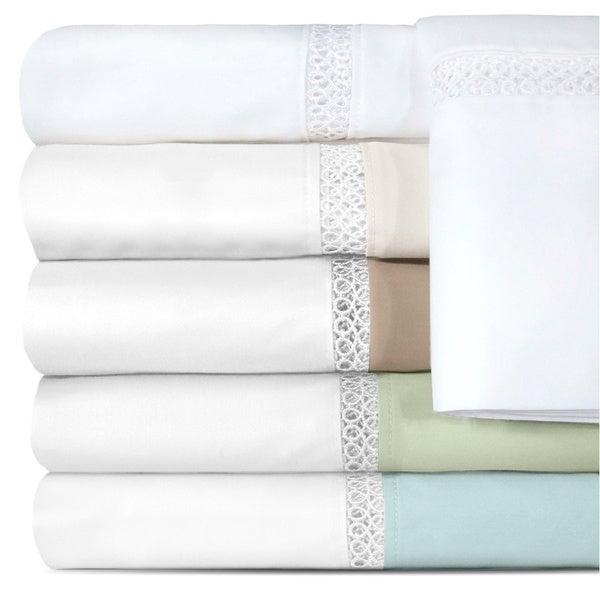 Grand Luxe Egyptian Cotton Sateen Duetta 500 Thread Count Sheet Separates