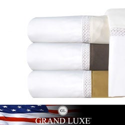 Grand Luxe Egyptian Cotton Duetta 800 TC Deep Pocket Sheet or Pillowcase Separates