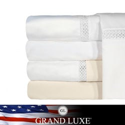 Grand Luxe Egyptian Cotton Duetta 1200 Thread Count Deep Pocket Sheet Separates and Pillowcase Separates