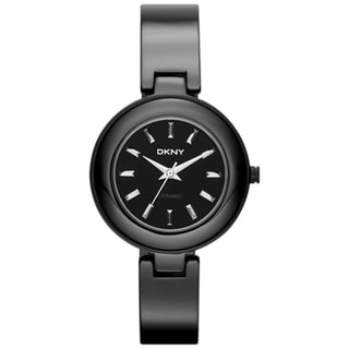 DKNY Women's Black Ceramic/ Stainless Steel Watch