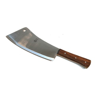 Defender Full Tang Stainless Steel 16-inch Butcher Knife with Wood Handle