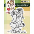 "Penny Black Cling Rubber Stamp 4""X6""-Her Heart"