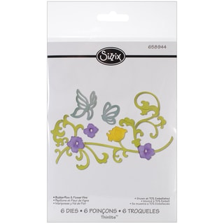 Sizzix Thinlits Die-Butterflies & Flower Vine