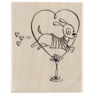 "Penny Black Rubber Stamp 2.25""X2.75""-Jump For Love"