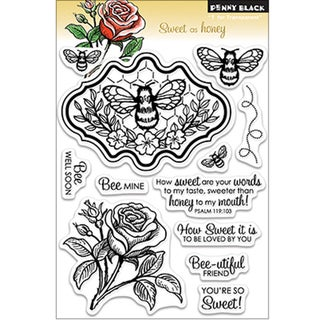 "Penny Black Clear Stamp 5""X7.5"" Sheet-Sweet As Honey"