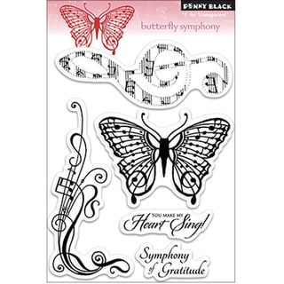 "Penny Black Clear Stamp 5""X7.5"" Sheet-Butterfly Symphony"