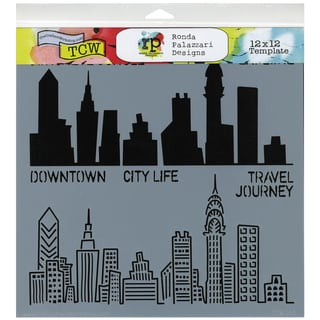 "Crafter's Workshop Templates 12""X12""-Urban Landscape"