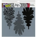 "Crafter's Workshop Templates 12""X12""-Pattern Leaves"