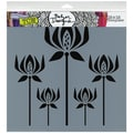 "Crafter's Workshop Templates 12""X12""-Cornflowers"