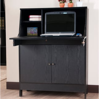 Furniture of America Modern Hutchsen Writing Desk Office Station