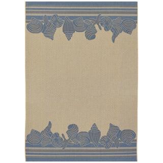Five Seasons Shoreline/ Cream-Blue Area Rug (7'6 x 10'9)