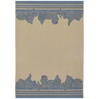 Five Seasons Shoreline/ Cream-Blue Area Rug (5'10 x 9'2)