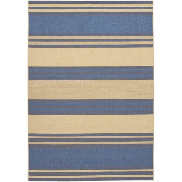 Five Seasons South Padre/ Blue-Cream Area Rug (7'6 x 10'9)