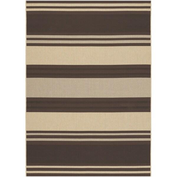 Five Seasons South Padre/ Chocolate-Cream Area Rug (8'6 x 13')