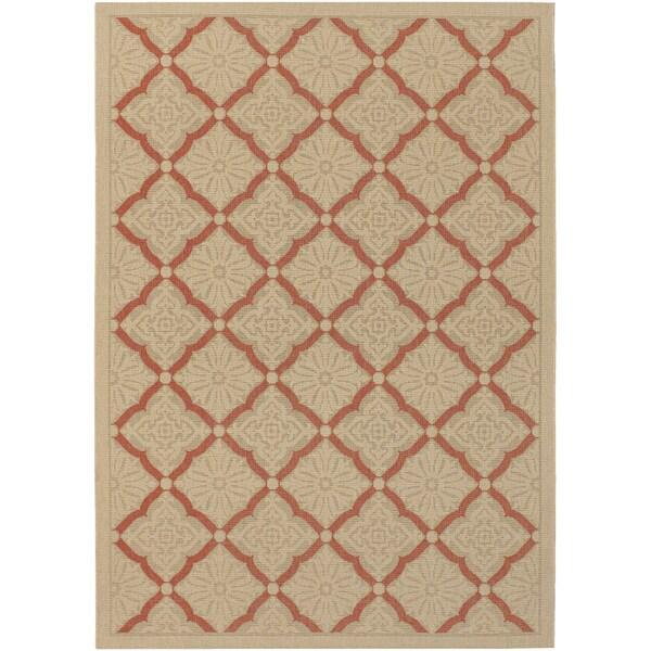 Five Seasons Sorrento/ Cream- Terra Cotta Area Rug (8'6 x 13')