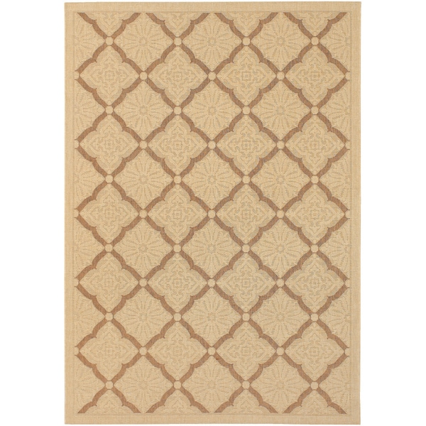 Five Seasons Sorrento/ Cream-Gold Area Rug (7'6 x 10'9)