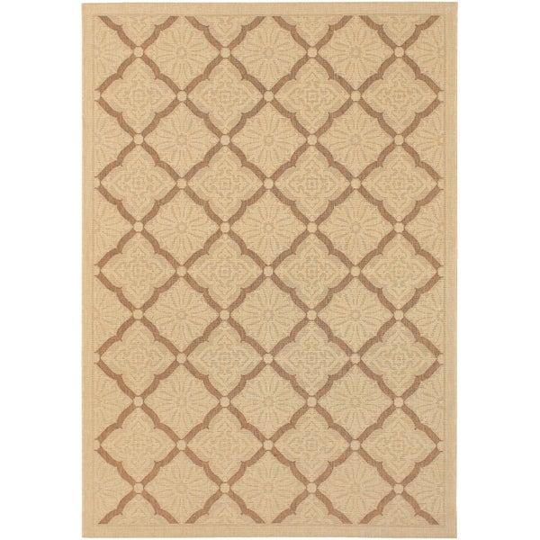 Five Seasons Sorrento/ Cream-Gold Area Rug (8'6 x 13')