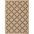 Five Seasons Sorrento Cream/ Black Rug (7'6 x 10'9)