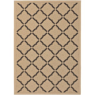 Five Seasons Sorrento Cream/ Black Rug (8'6 x 13')