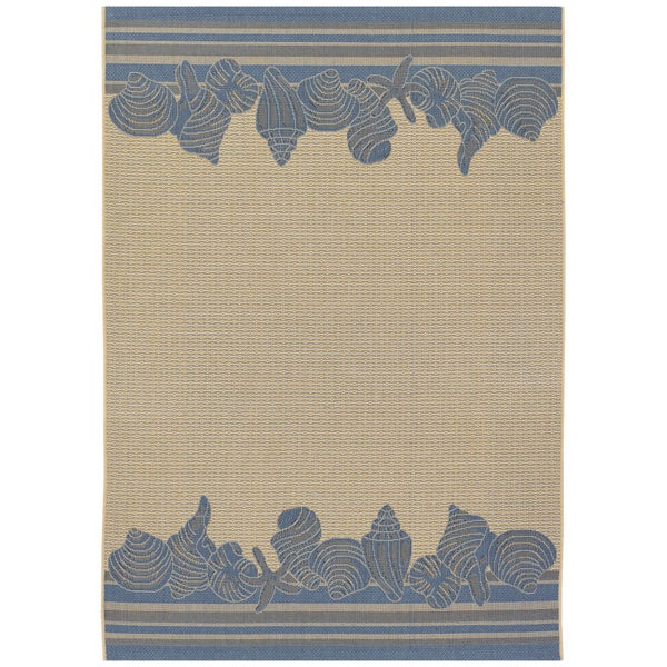 Five Seasons Shoreline Cream/ Blue Rug (8'6 x 13')