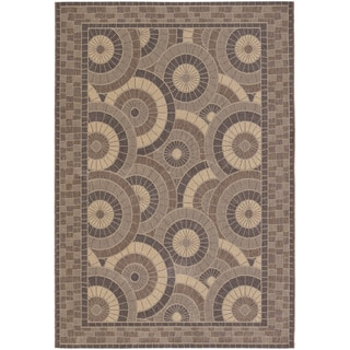 Five Seasons Sundial/ Cream-Brown Area Rug (8'6 x 13')