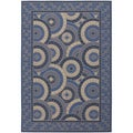 Five Seasons Sundial/ Cream-Blue Area Rug (8'6 x 13')