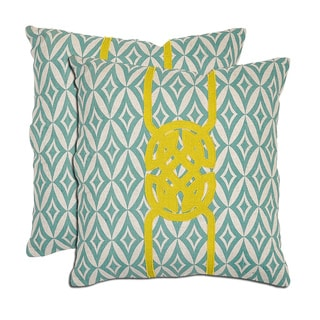 Villa Mei Natural Linen Throw Pillows (Set of 2)