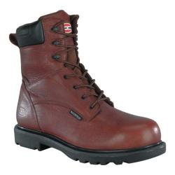 Men's Iron Age Hauler 8in Plain Toe Waterproof Brown Leather