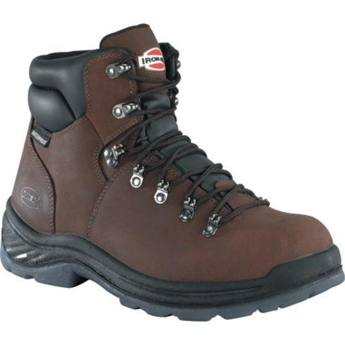 Men's Iron Age Tiller 6in Plain Toe Waterproof Hiker Brown Leather