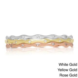 14k Gold 3/4ct TDW Diamond Stackable Bracelet (H-I, I1-I2)