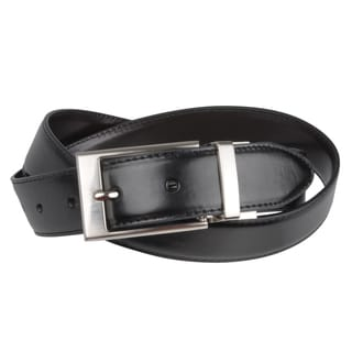 Joseph Abboud Men&#39;s Burnished Reversible Leather Belt