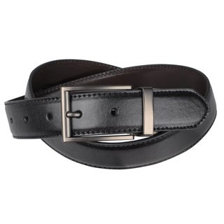 Joseph Abboud Men&#39;s Smooth Reversible Leather Belt