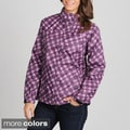 Nuage Women's 'Dundee' Plaid Removable Hood Jacket