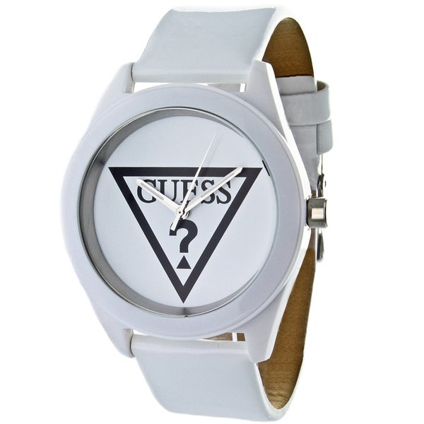 Guess Women's White Leather Watch
