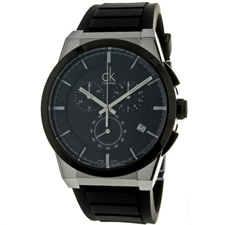 Calvin Klein Men's Black Dart Chronograph Watch