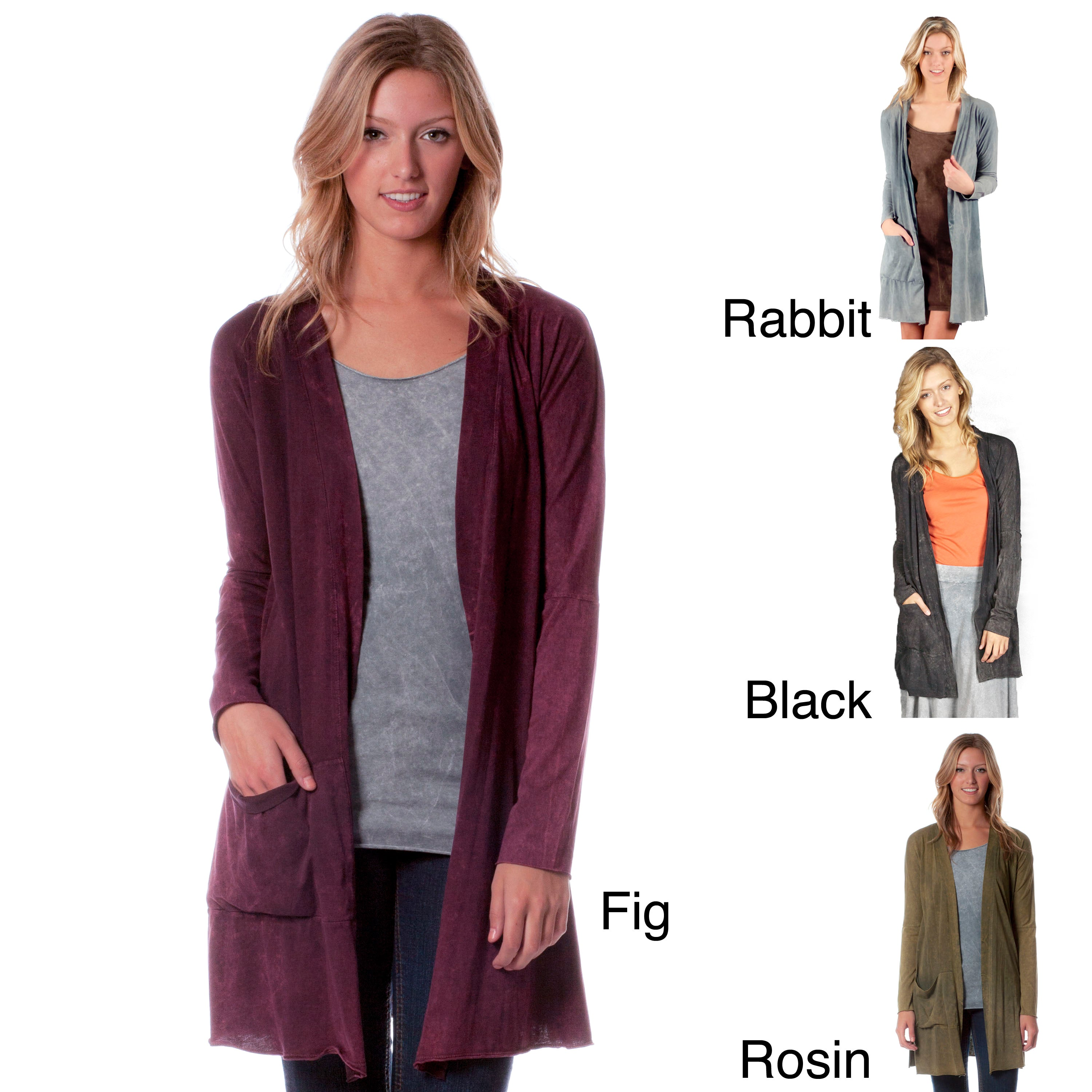 AtoZ Women's Antique Washed Cotton Cardigan at Sears.com