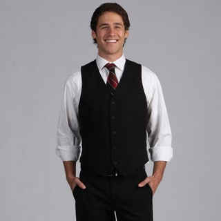Geoffrey Beene Black Solid Suit Separate Vest