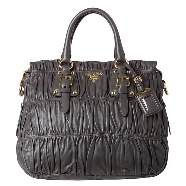 Prada \u0026#39;Gaufre\u0026#39; Large Dark Grey Nappa Leather Tote Bag - 15132178 ...