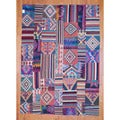 Antique Afghan Hand-woven Tribal Patchwork Kilim Multi-colored Wool Rug (8' x 11'4)