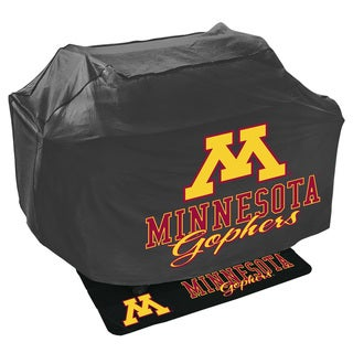 NCAA Polyester Grill Cover and Mat Set