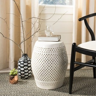 Safavieh Paradise Courtyard Cream Ceramic Garden Stool