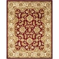 Handmade Heritage Kashan Red/ Ivory Wool Rug (11' x 16')