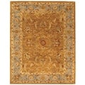 Handmade Heritage Shahi Brown/ Blue Wool Rug (11' x 16')