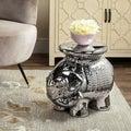 Safavieh Paradise Elephant Silver Ceramic Garden Stool